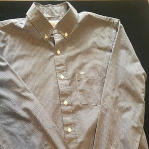 Dockers button down shirt, maroon/navy plaid